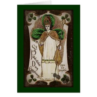"Saint Patrick ""Erin Go Bragh"" Greeting Card"