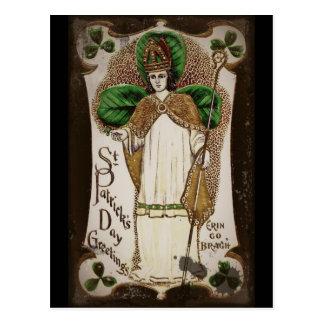 "Saint Patrick ""Erin Go Bragh"" Postcard"