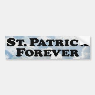 Saint Patrick Forever - Basic Bumper Sticker