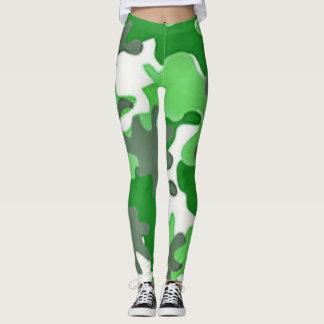 Saint Patrick Green Camo Leggings