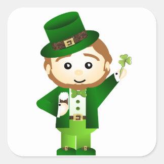 Saint Patrick s Day Autocollants Carrés