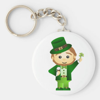 Saint Patrick' S Day Basic Round Button Key Ring