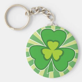 saint patrick s day basic round button key ring
