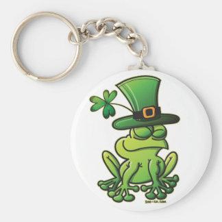 Saint Patrick s Day Frog Keychain