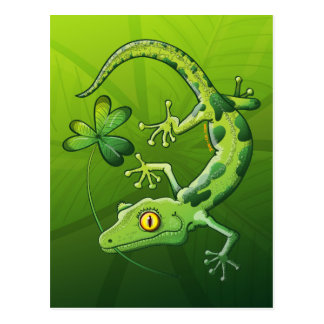 Saint Patrick s Day Gecko Post Cards