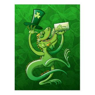 Saint Patrick s Day Iguana Post Cards