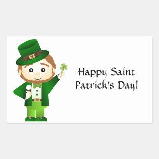 Saint Patrick s Day Sticker En Rectangle
