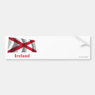Saint Patrick Waving Flag with Name Bumper Stickers