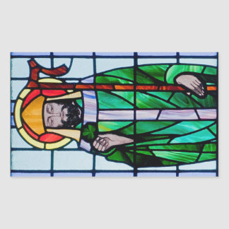 Saint Patrick Window Rectangular Sticker