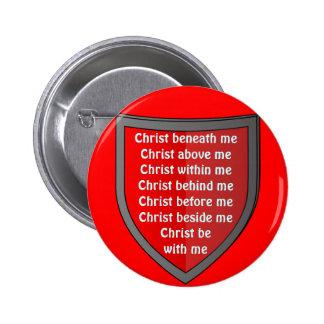 Saint Patrick's breastplate prayer button