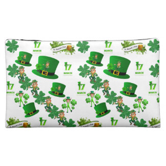 Saint Patrick's Day Baggettes Cosmetic Bag