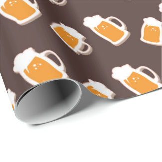Saint Patrick's Day beer pattern wrapping paper