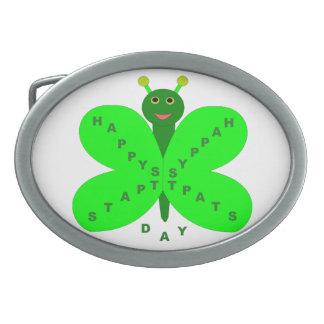 Saint Patricks Day Butterfly Belt Buckle