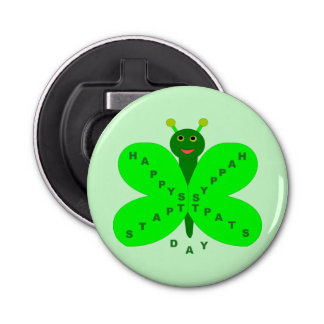 Saint Patrick's Day Butterfly Bottle Opener