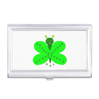 Saint Patrick's Day Butterfly Business Card Holder