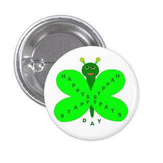 Saint Patricks Day Butterfly Button