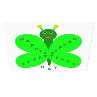 Saint Patricks Day Butterfly Canvas Print
