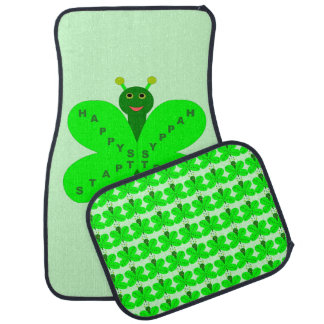 Saint Patrick's Day Butterfly Car Mat Set