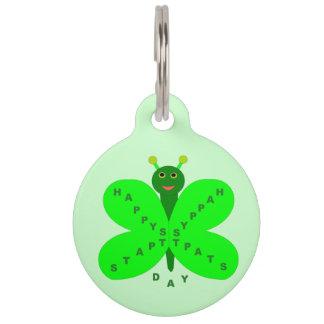 Saint Patrick's Day Butterfly Custom Dog Tag