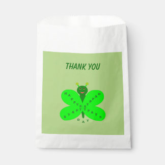 Saint Patricks Day Butterfly Custom Favor Bags