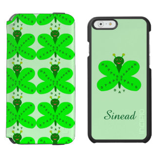 Saint Patrick's Day Butterfly Custom Incipio Watson™ iPhone 6 Wallet Case