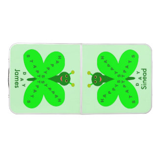 Saint Patricks Day Butterfly Custom Pong Table