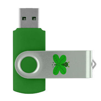 Saint Patrick's Day Butterfly Custom USB Drive