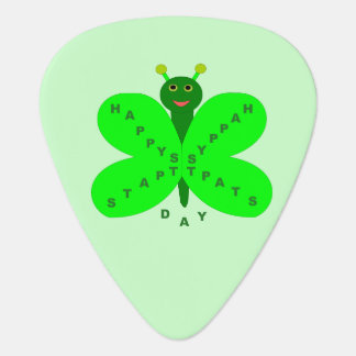 Saint Patrick's Day Butterfly Guitar Pick