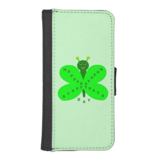 Saint Patrick's Day Butterfly iPhone Wallet Case
