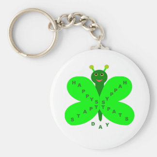 Saint Patrick's Day Butterfly Keychain