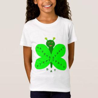 Saint Patricks Day Butterfly Kids T Shirt
