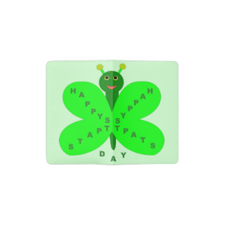 Saint Patrick's Day Butterfly Notebook Cover