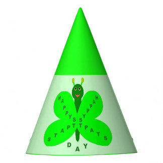 Saint Patricks Day Butterfly Party Hat
