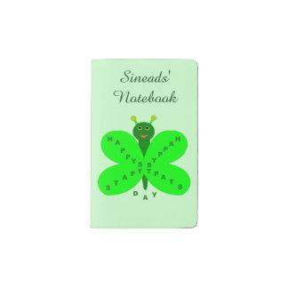Saint Patrick's Day Butterfly Personalized Pocket Moleskine Notebook