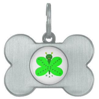 Saint Patricks Day Butterfly Pet Tag