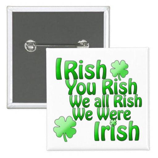 Saint Patrick's Day Button Pinback Buttons