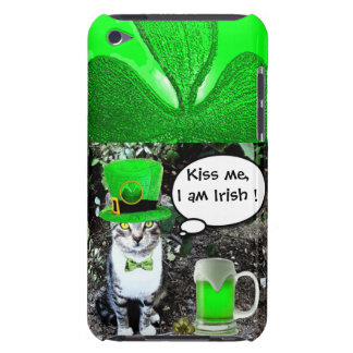 SAINT PATRICK'S DAY CAT WITH GREEN IRISH BEER iPod TOUCH Case-Mate CASE