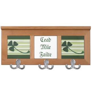Saint Patrick's Day collage series # 18 Coat Racks