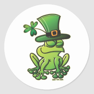 Saint Patrick's Day Frog Classic Round Sticker