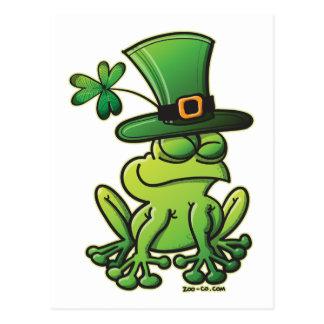 Saint Patrick's Day Frog Postcard