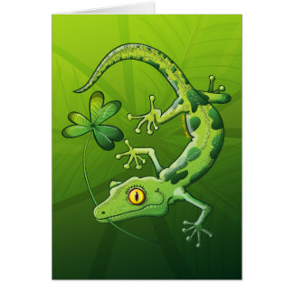 Saint Patrick's Day Gecko Card