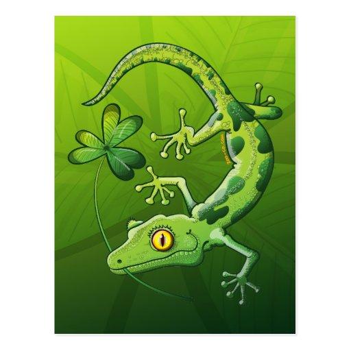 Saint Patrick's Day Gecko Post Cards