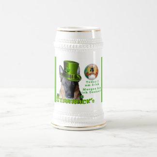 Saint Patricks Day German Shepherd Beer Stein