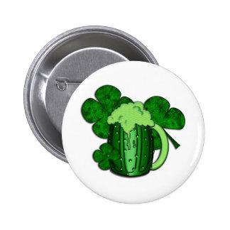 Saint Patrick's Day Green Beer 6 Cm Round Badge