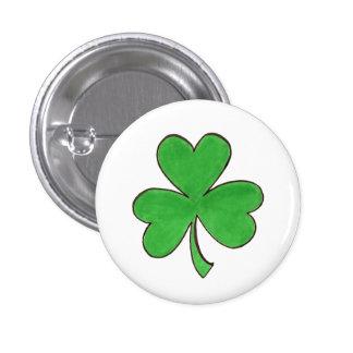 Saint Patrick's Day Green Shamrock Clover Button
