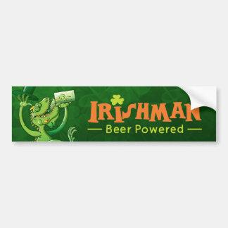Saint Patrick's Day Iguana Car Bumper Sticker