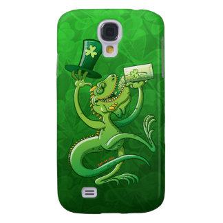 Saint Patrick's Day Iguana Samsung Galaxy S4 Cases