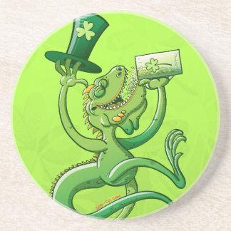 Saint Patrick's Day Iguana Drink Coaster