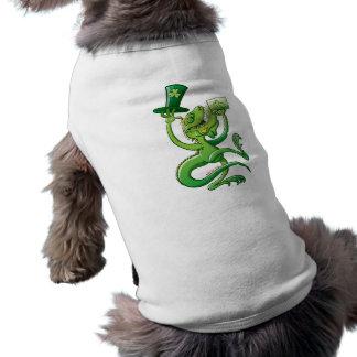 Saint Patrick's Day Iguana Doggie T Shirt