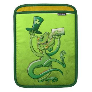 Saint Patrick's Day Iguana iPad Sleeves